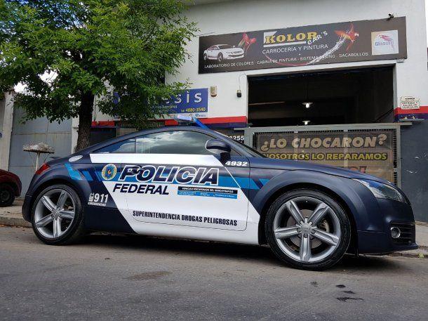 El Audi TT recuperado del narcotráfico que ahora será patrullero de la Policía Federal<br>