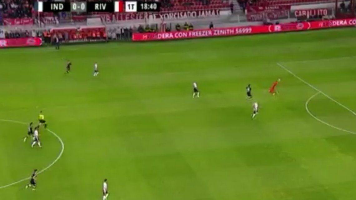 Con uno más, Independiente le ganó a River en el Libertadores