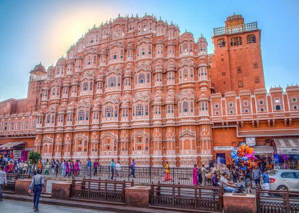 Jaipur es la capital del Estado de Rajastán