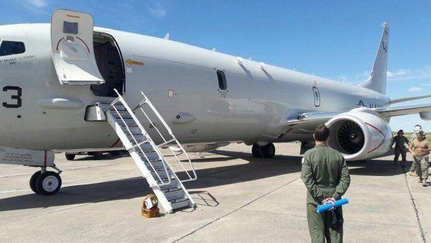 Uno de los aviones de la marina de EE.UU. que llegó a la Argentina a colaborar con la búsqueda del submarino ARA San Juan.