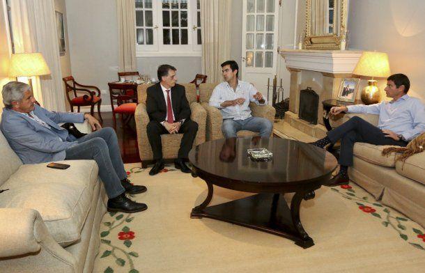 Urtubey junto a los diputados nacionales David, Kosiner y Zottos.