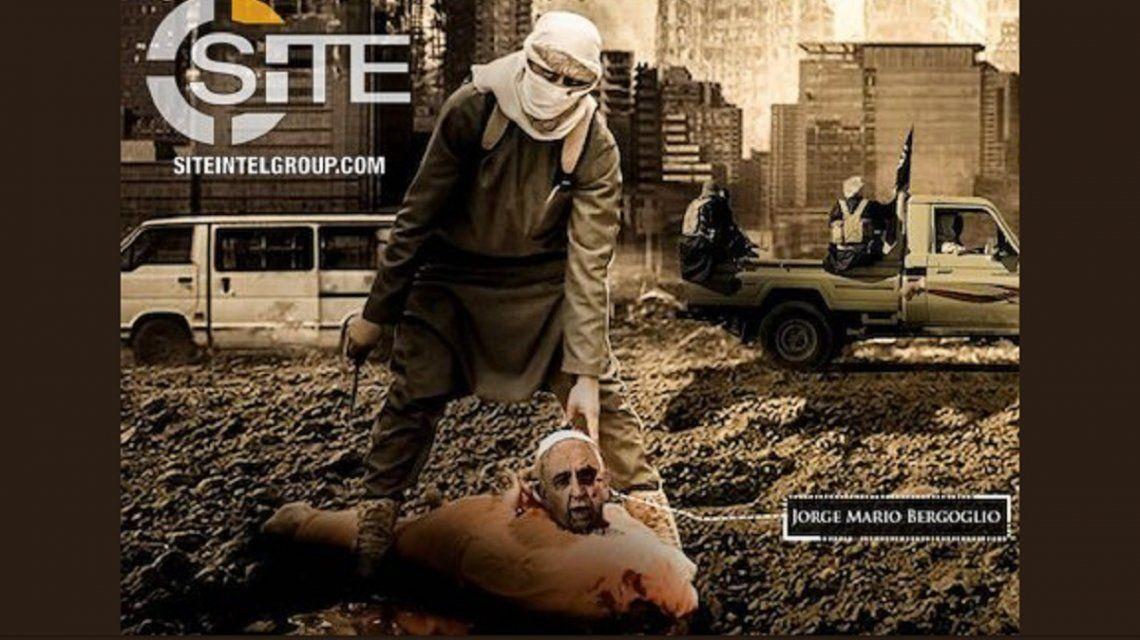 La escalofriante imagen de ISIS que muestra decapitado al Papa Francisco