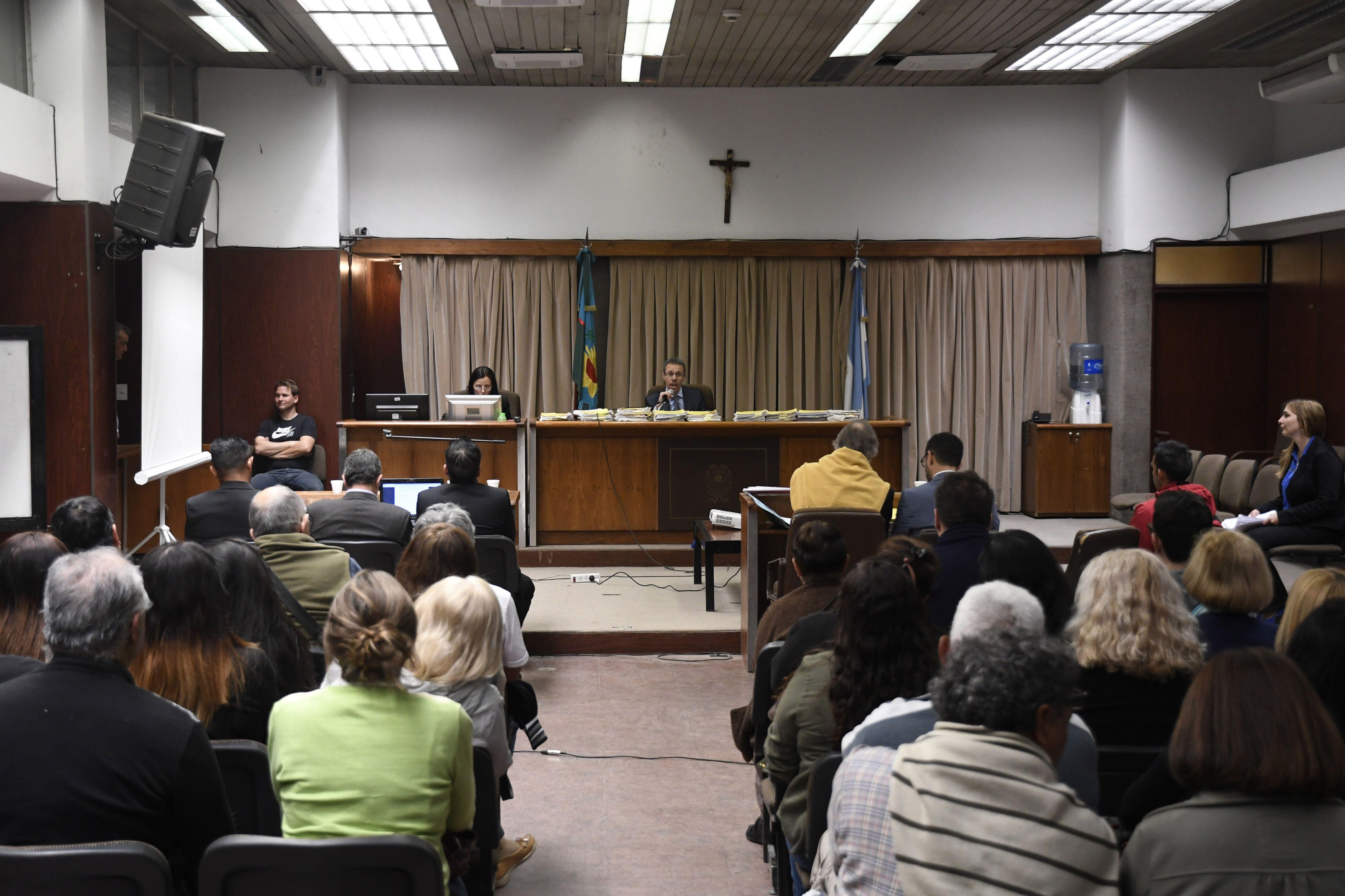 Juicio por el femicidio de Melina Romero en los Tribunales de San Martín.