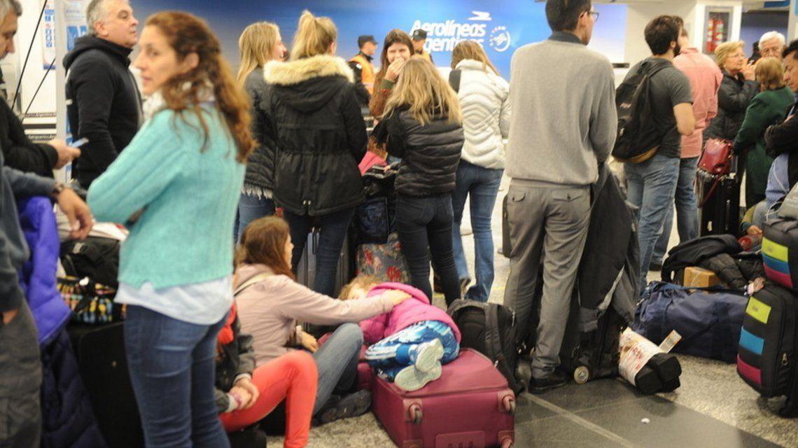 Aerolíneas Argentinas canceló vuelos internacionales.