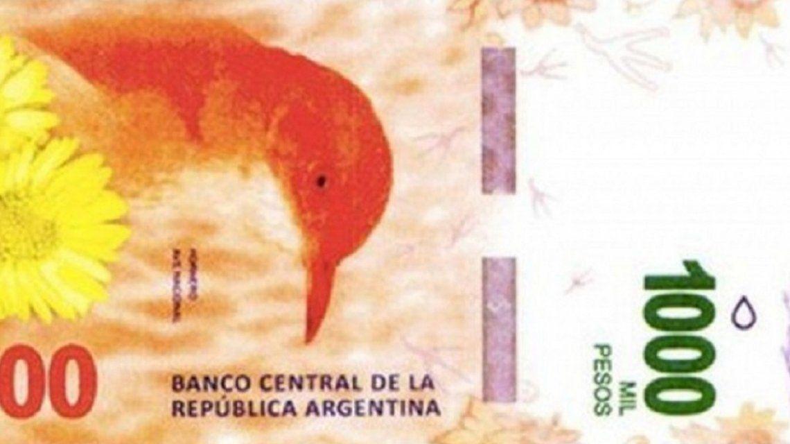 La próxima semana entrarán en circulación los billetes de mil pesos