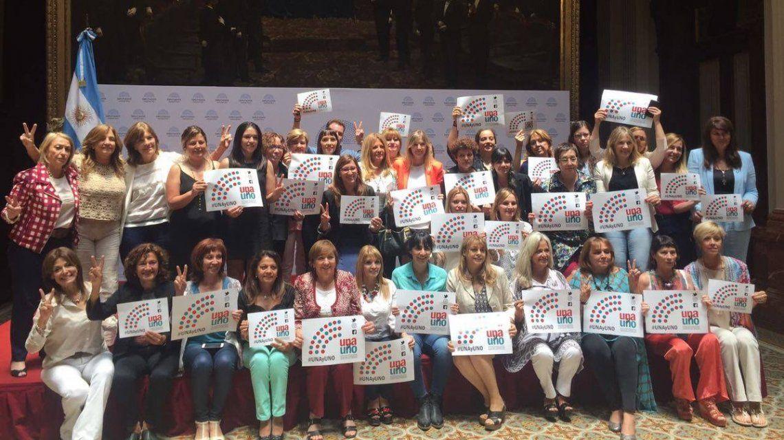 Diputadas del peronismo celebran tras la votación