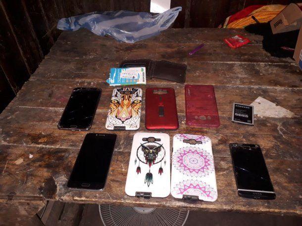 Los celulares secuestrados<br>