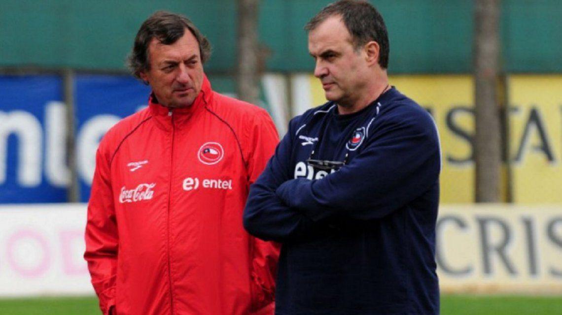Bonini junto a Bielsa en su paso por la Selección chilena