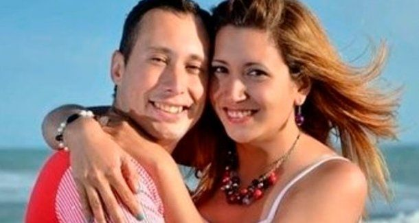 <p>Itatí Leguizamon y su esposo Germán Oscar Suárez..</p><p></p>