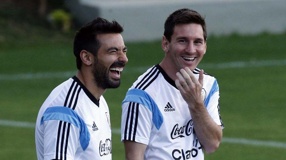 Lavezzi y Messi