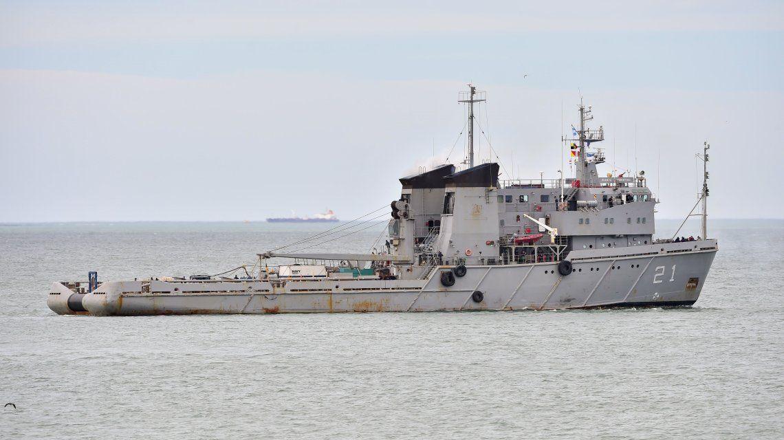El buque Puerto Argentino partió de Comodoro para buscar al submarino