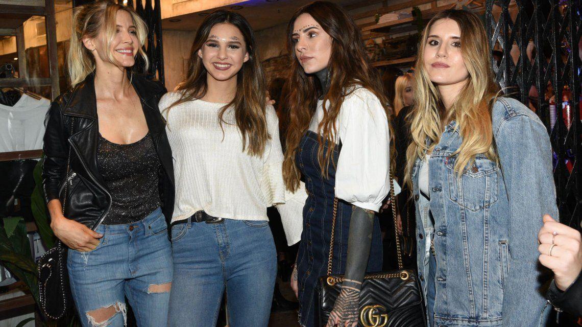 El look de Candelaria y Micaela Tinelli en la fiesta de 15 de Juanita