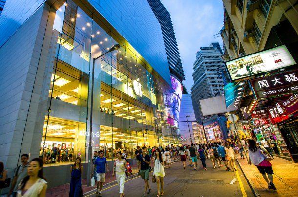 La calle Causeway Bay, en Hong Kong.