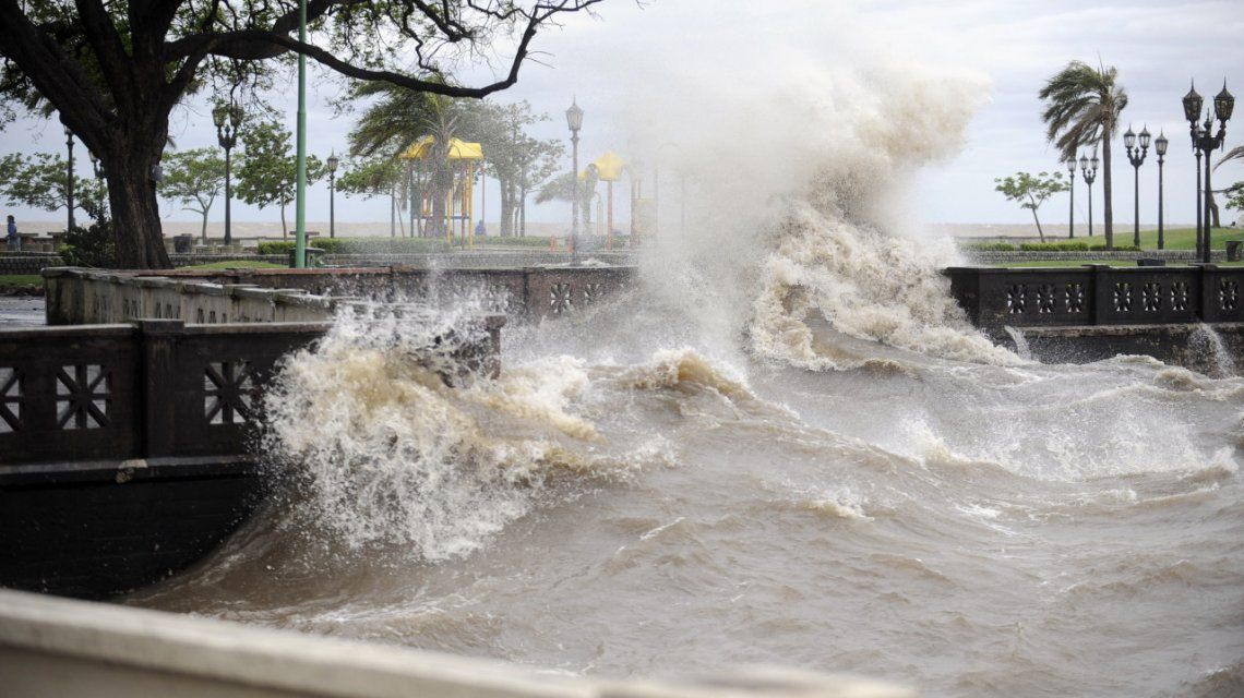 Fuertes vientos en el Río de la Plata