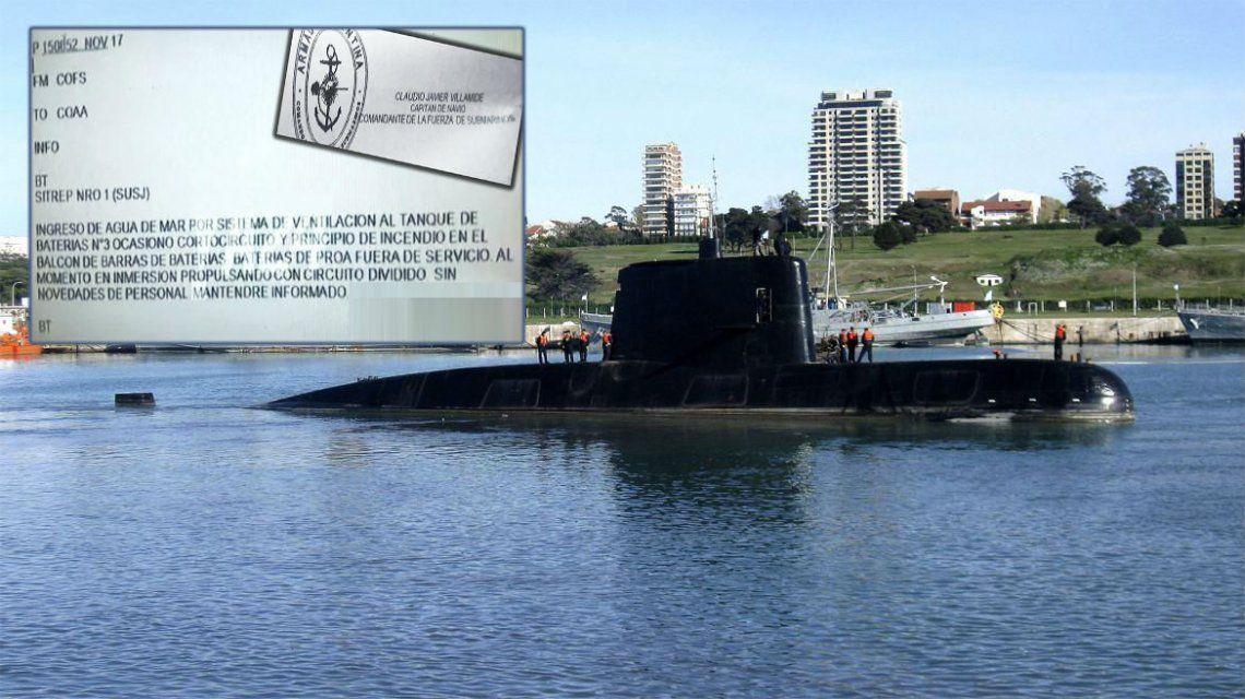 El submarino ARA San Juan y su última comunicación
