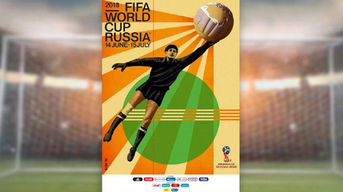 Presentaron el poster retro del Mundial 2018
