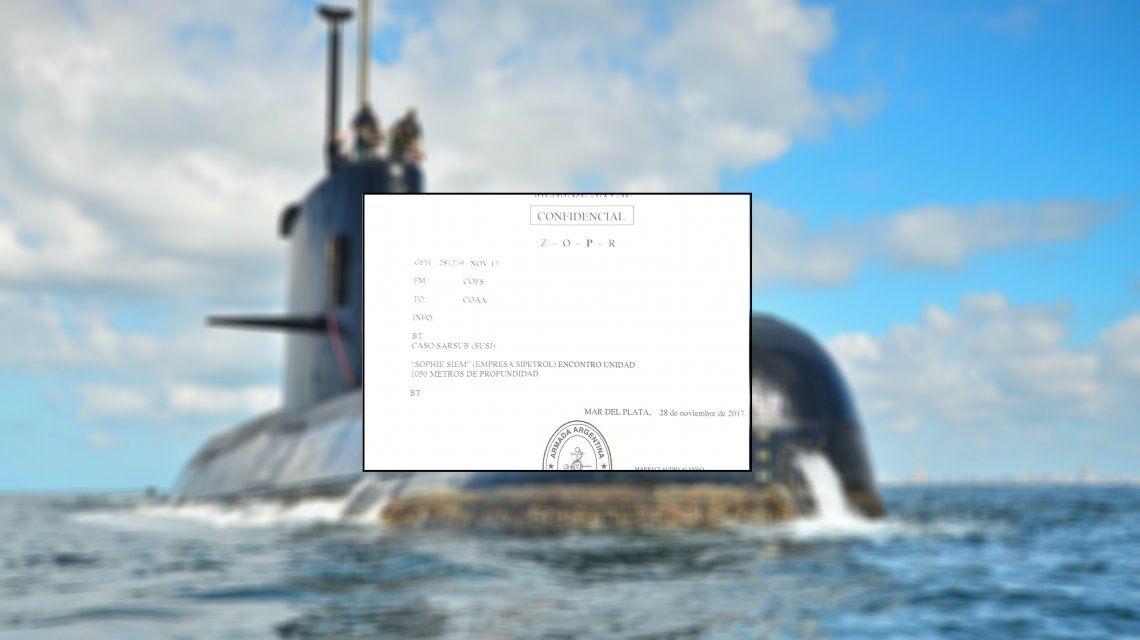 ¿Encontraron al submarino? Filtran un mensaje confidencial que confirma el hallazgo