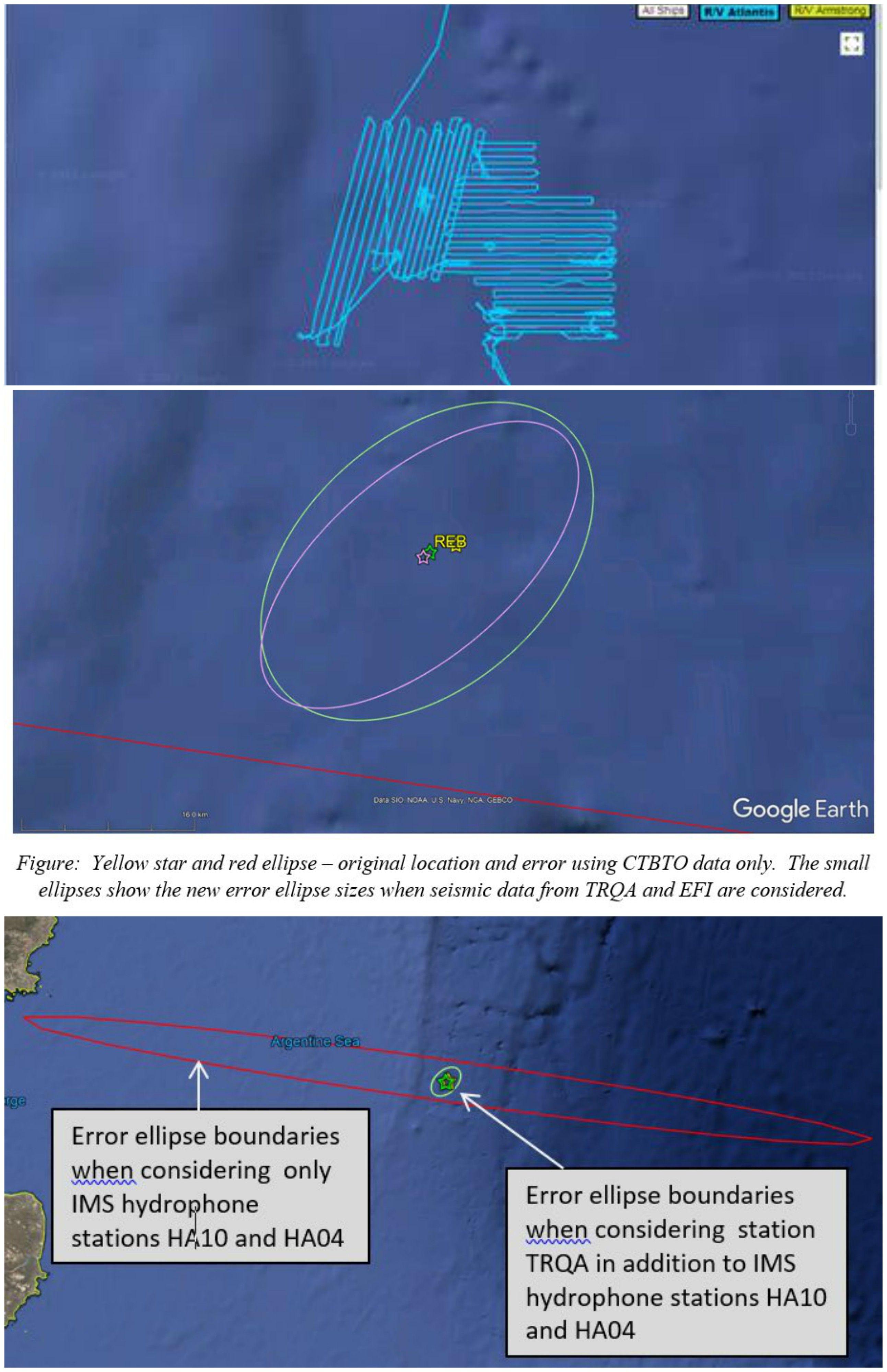 La Organización del Tratado de Prohibición Completa de los Ensayos Nucleares publicó estos mapas