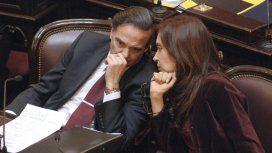 Miguel Ángel Pichetto y Cristina Kirchner