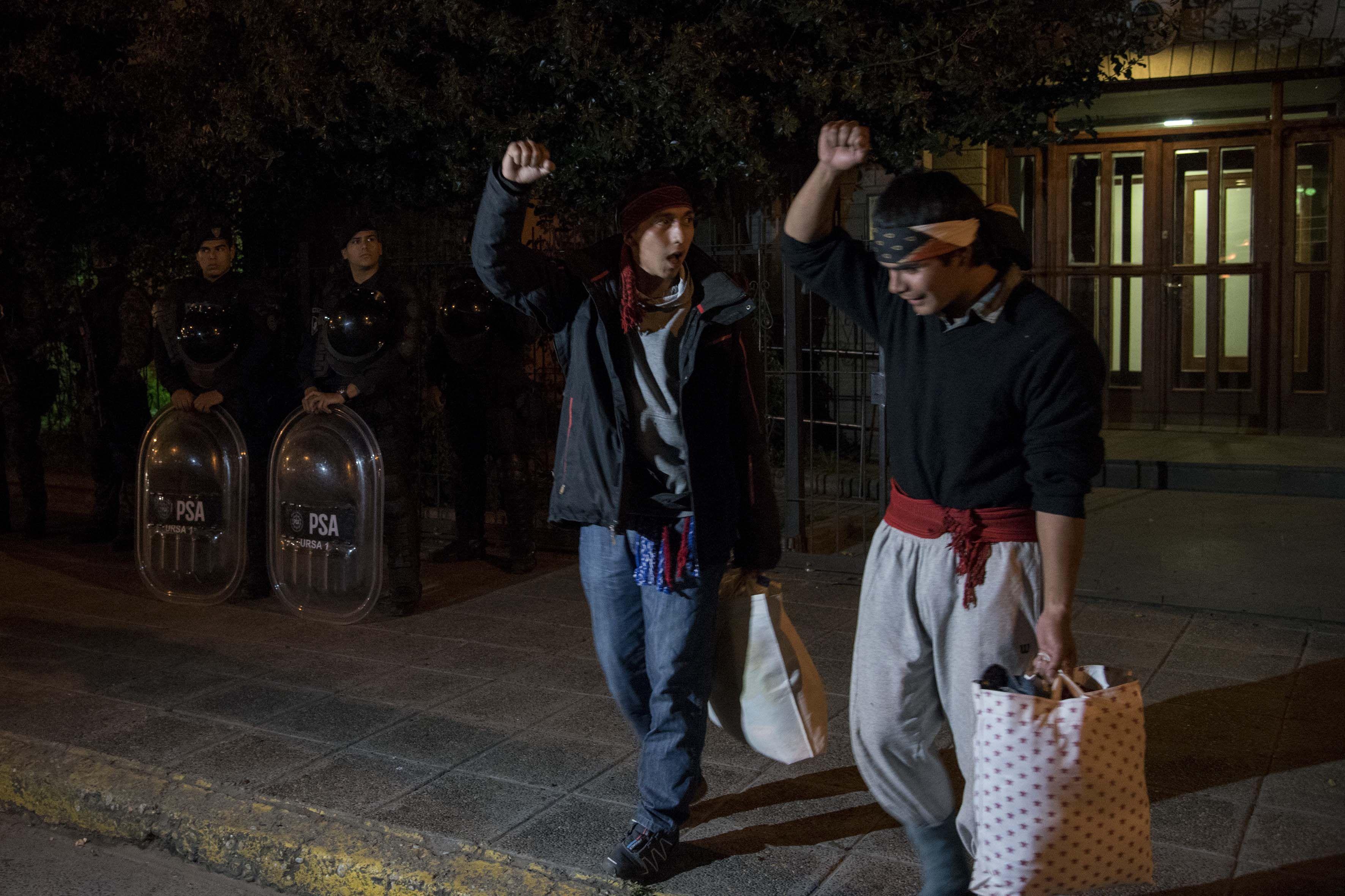 Habían sido detenidos en el operativo del pasado sábado en Villa Mascardi