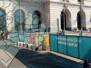 cortes de transito y servicios reducidos en la ciudad por el acto del g20