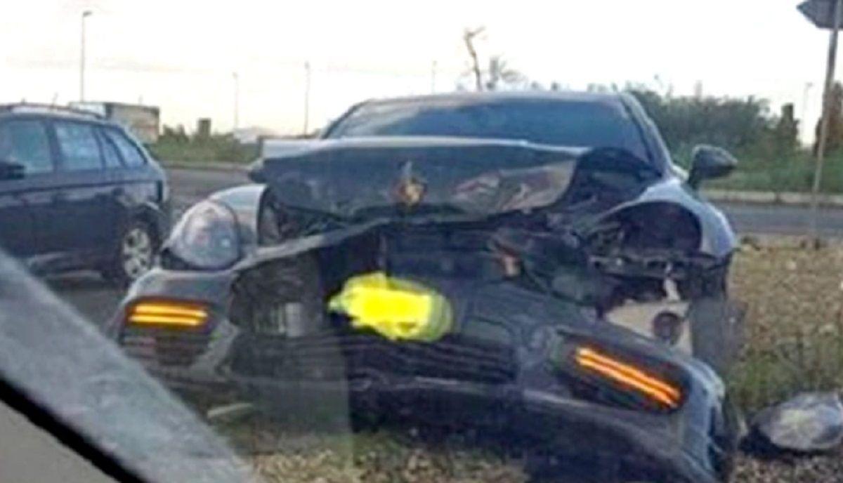 Así quedó el auto del ex jugador de Boca