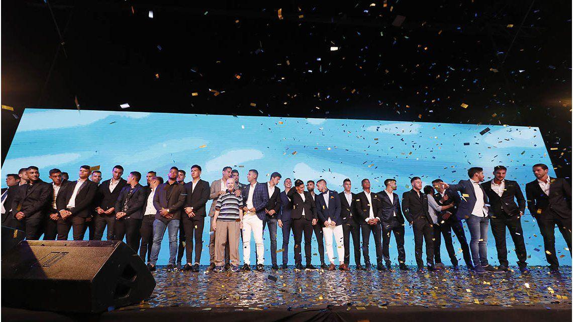 Todos los jugadores del plantel Xeneize estuvieron presentes (Foto Prensa Boca Juniors)
