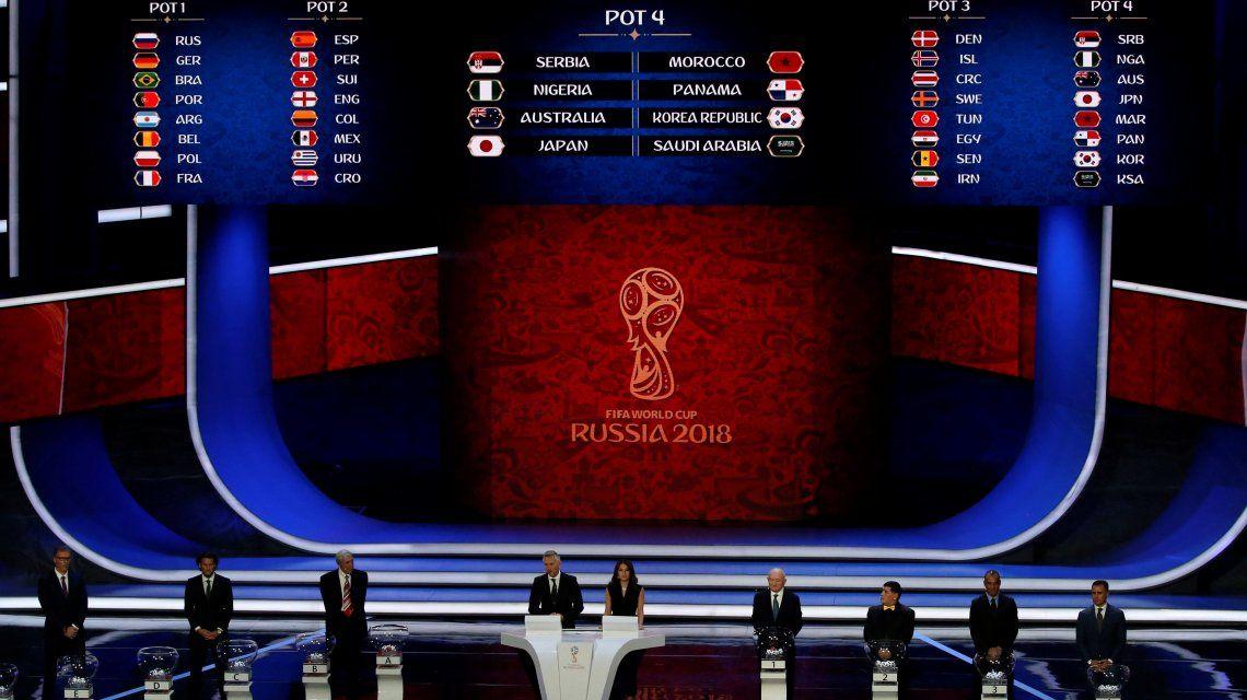 Así quedaron los grupos del Mundial de Rusia 2018