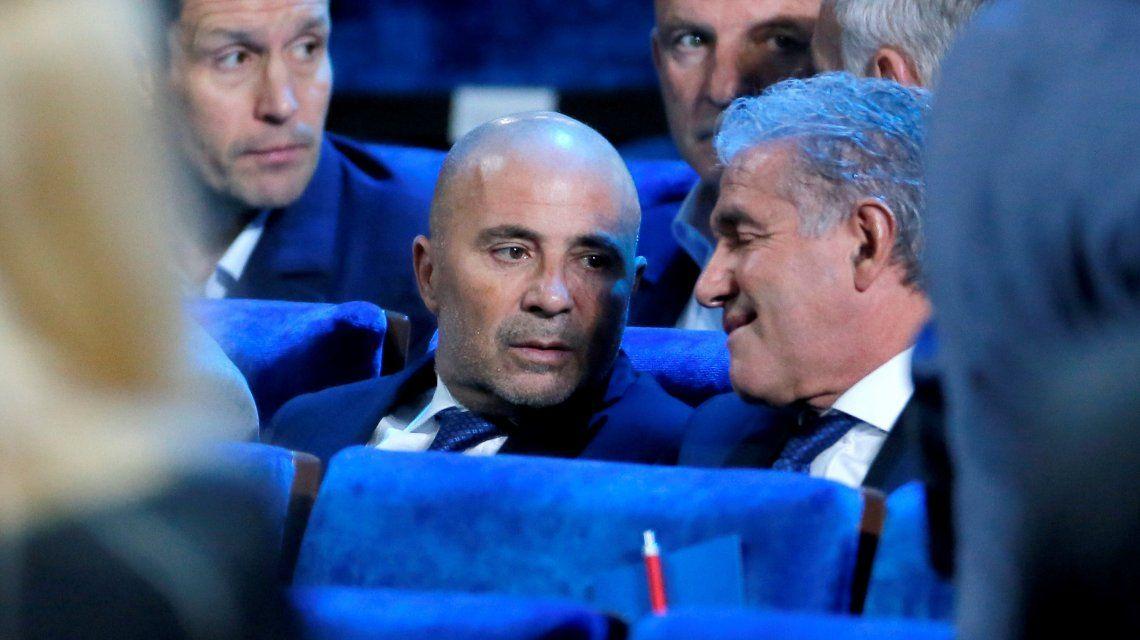 El DT argentino junto a Jorge Burruchaga