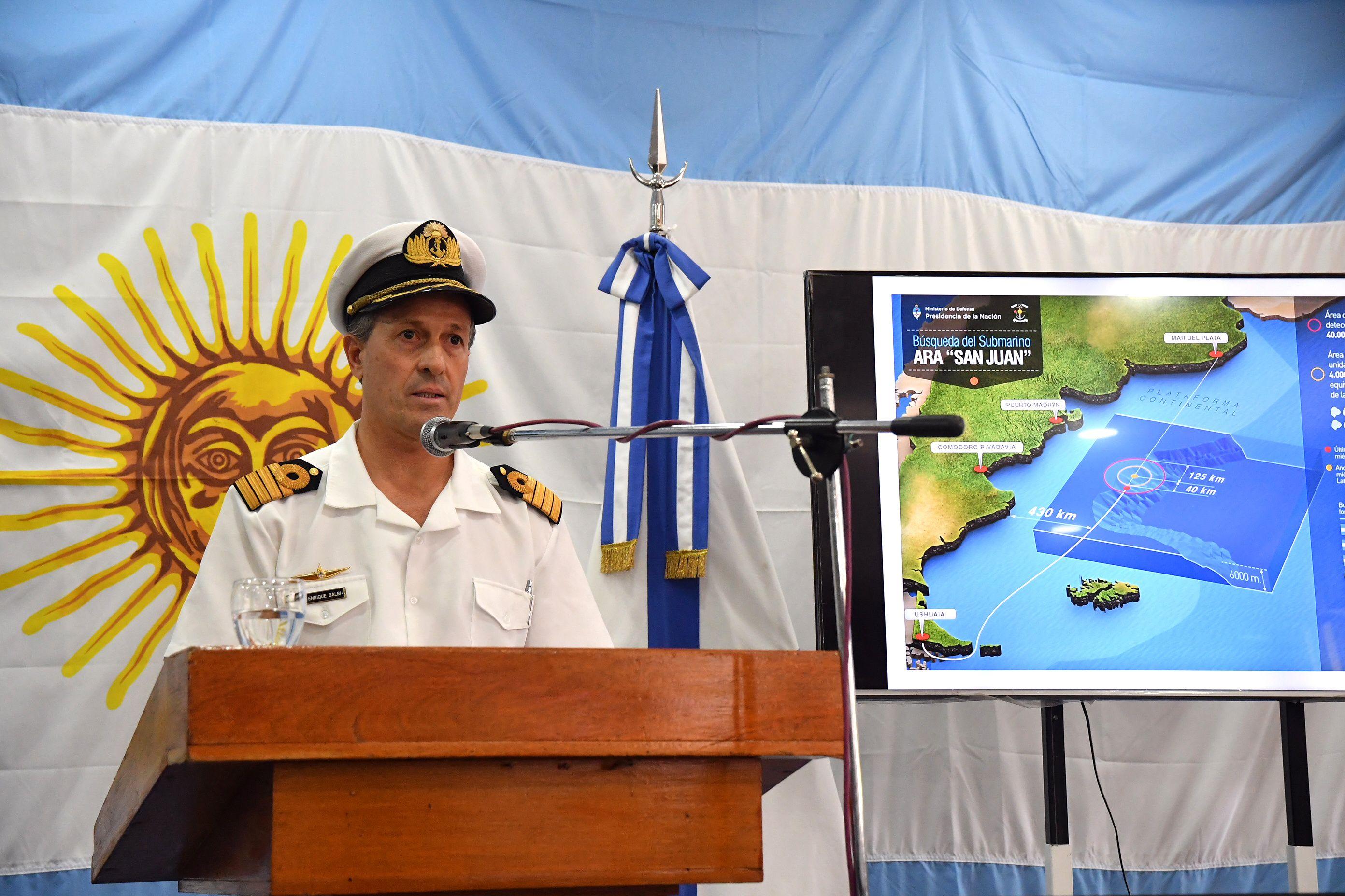 Submarino ARA San Juan: la Armada investigará un nuevo contacto
