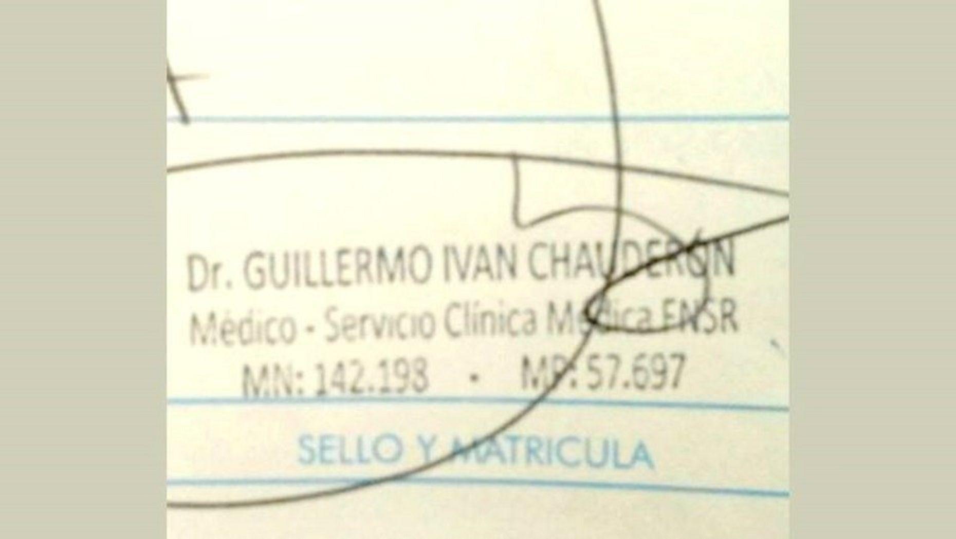 El sello que usaba el falso médico San Nicolás.