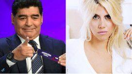 El tremendo mensaje de Wanda Nara a Maradona por la crítica a la Selección