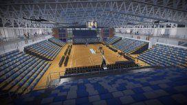 El Dow Center tendrá 3 canchas de entrenamientos que se transformarán en una para competir. Un estadio para 4.000 personas.