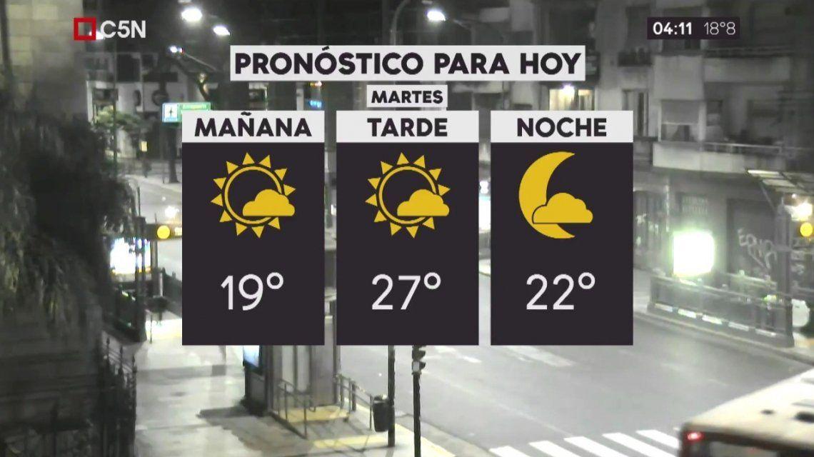 Pronóstico del tiempo del lunes 5 de diciembre de 2017