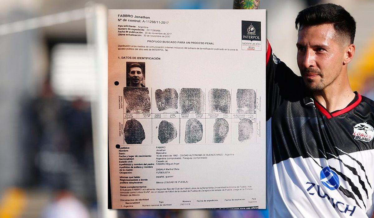 El club Lobos BUAP suspendió a Jonathan Fabbro tras el pedido de captura internacional