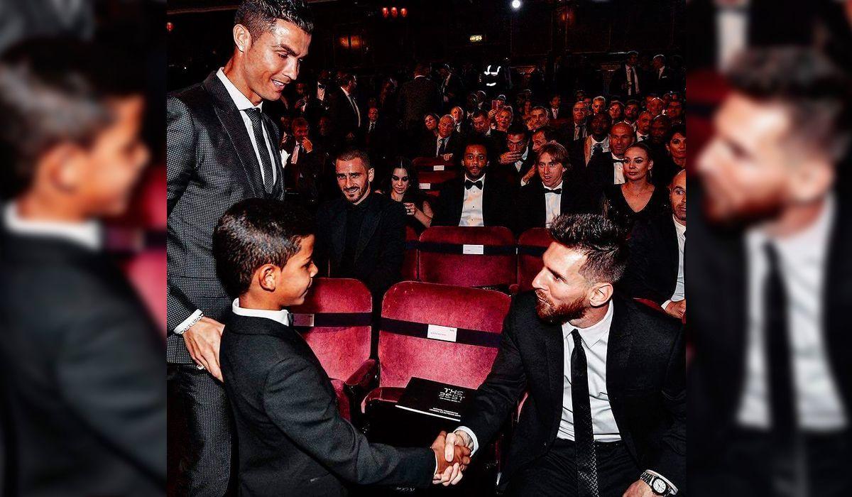 El hijo de Cristiano Ronaldo estrenó su cuenta de Instagram con un mensaje a Messi