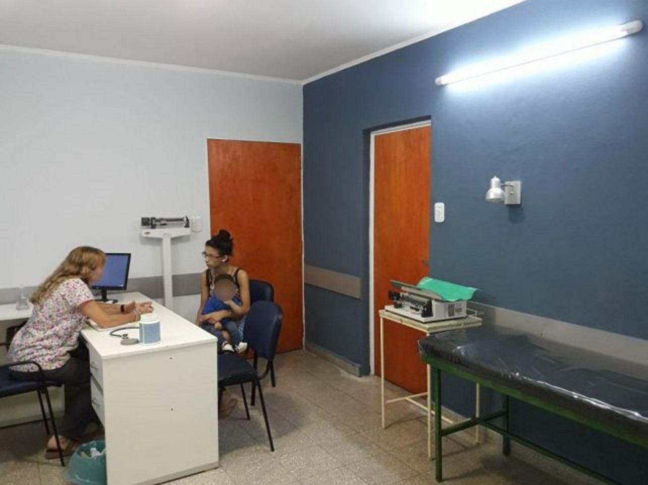 Así quedó la sala pediátrica del hospital después de la refacción.