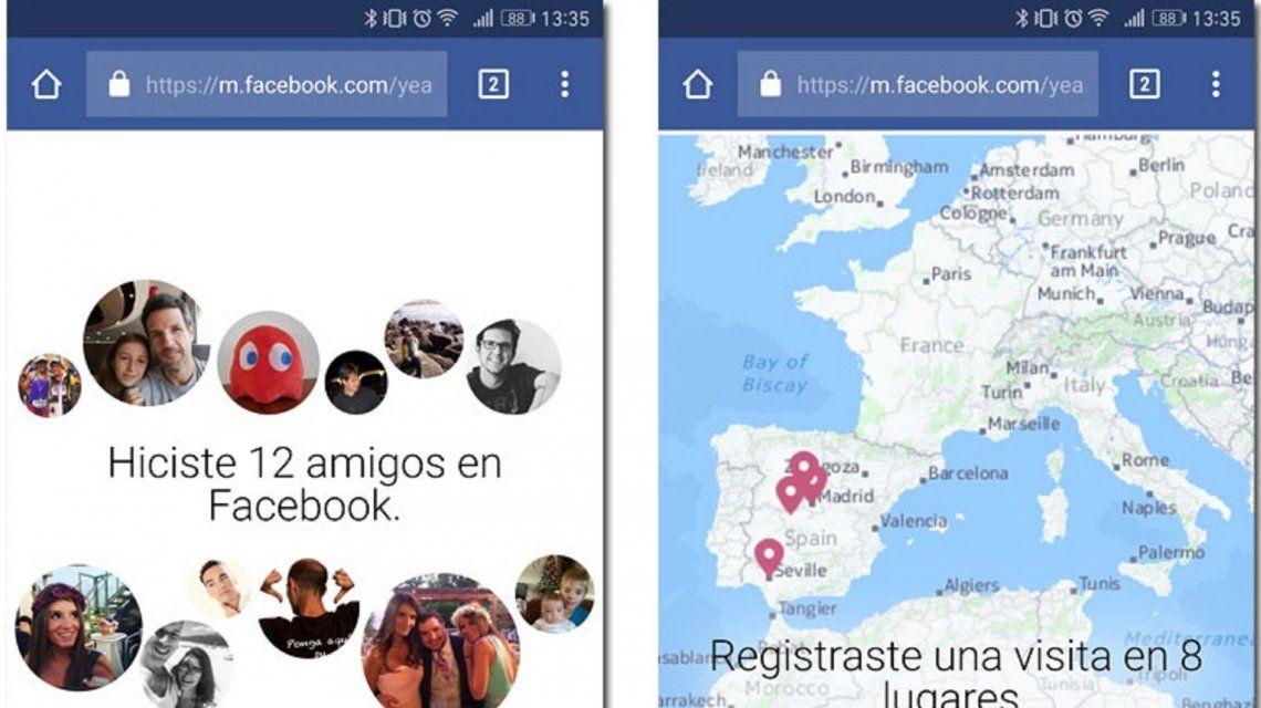 Cómo ver tu resumen del año en Facebook