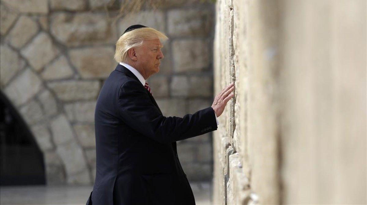 Trump en el Muro de los Lamentos