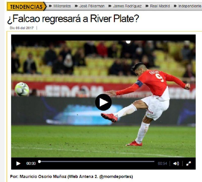 La gran ilusión de los hinchas de River: ¿vuelve Radamel Falcao?