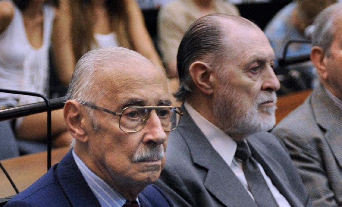 El fallecido dictador Jorge Rafael Videla y el represor Jorge Magnacco.