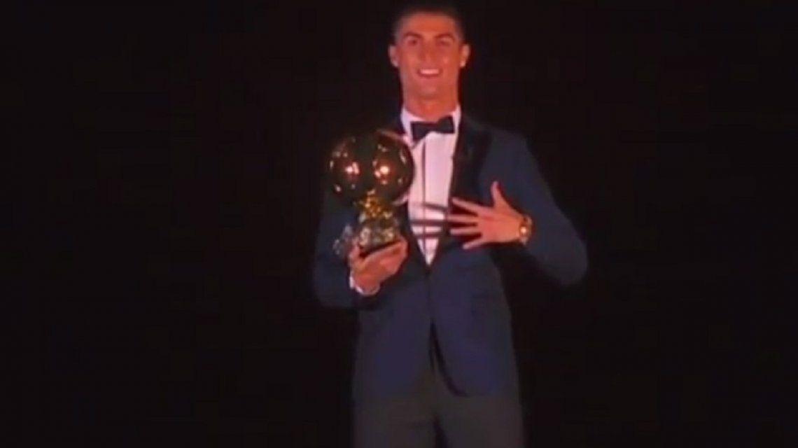 Cristiano Ronaldo ganó el Balón de oro 2017