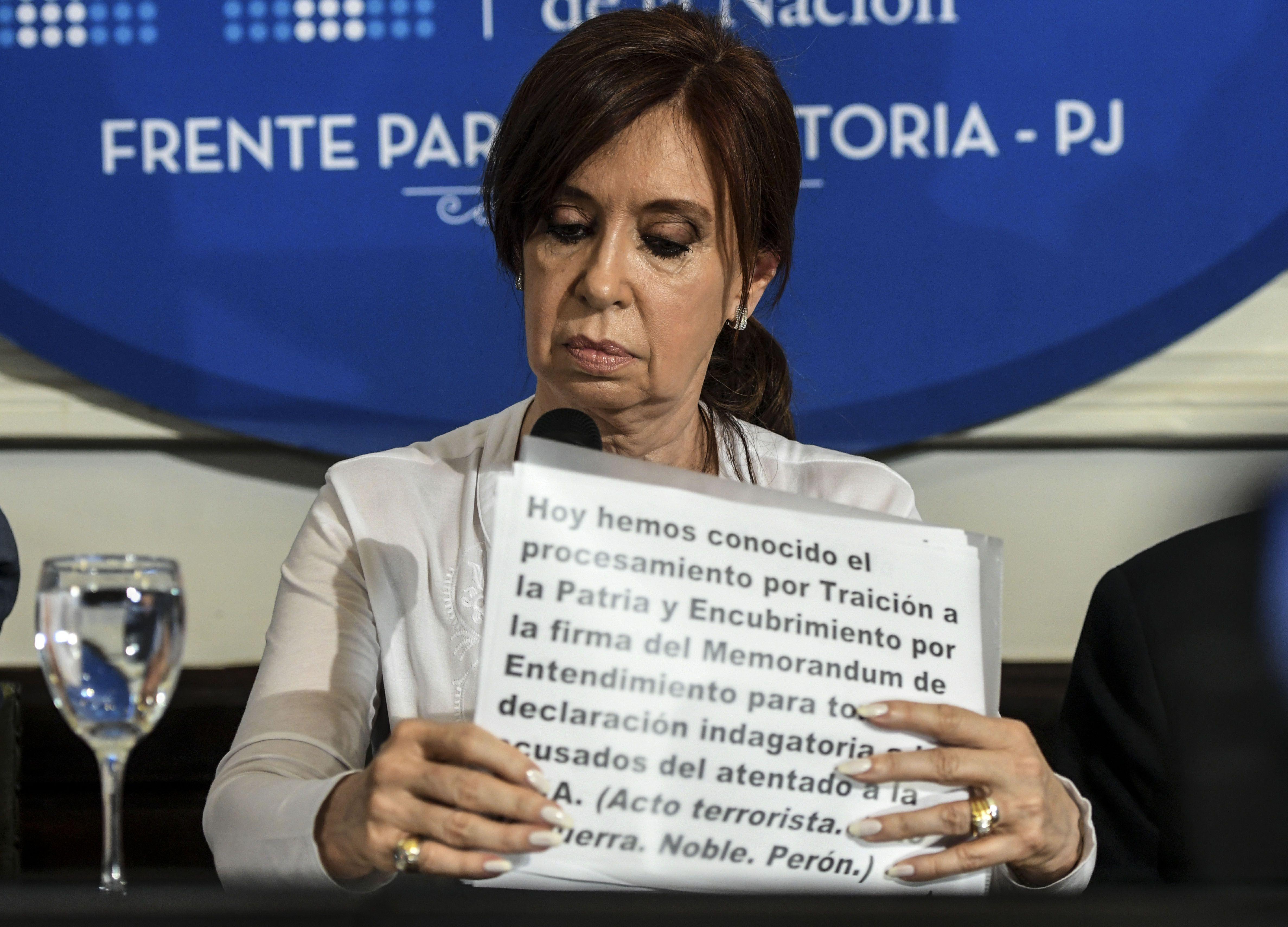 Conferencia de prensa de Cristina Kirchner.