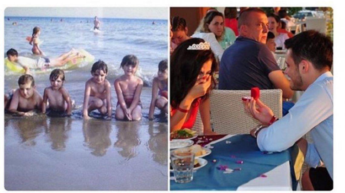 Increíble: son pareja y descubrieron mirando fotos viejas que se conocían desde chiquitos