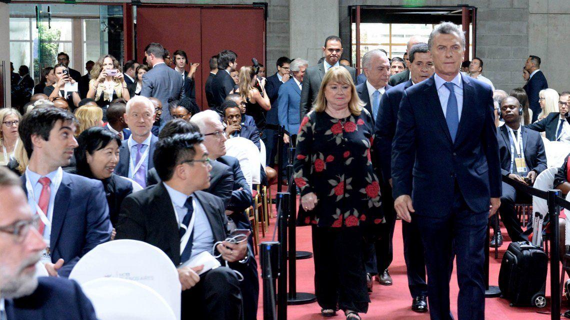 El presidente Mauricio Macri y Susana Malcorra