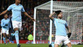 Gol de Otamendi en el Clásico de Manchester - Crédito:@ManUtd_Es