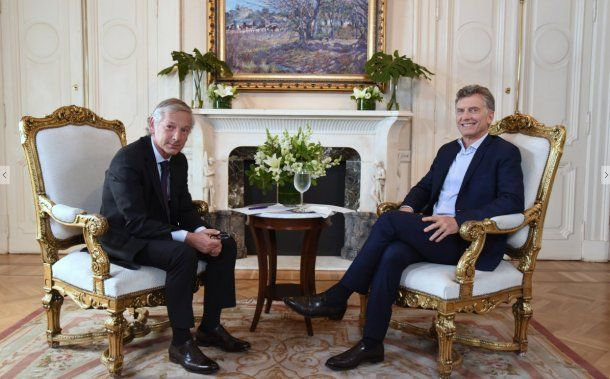 Mauricio Macri con Marcelo Longobardi