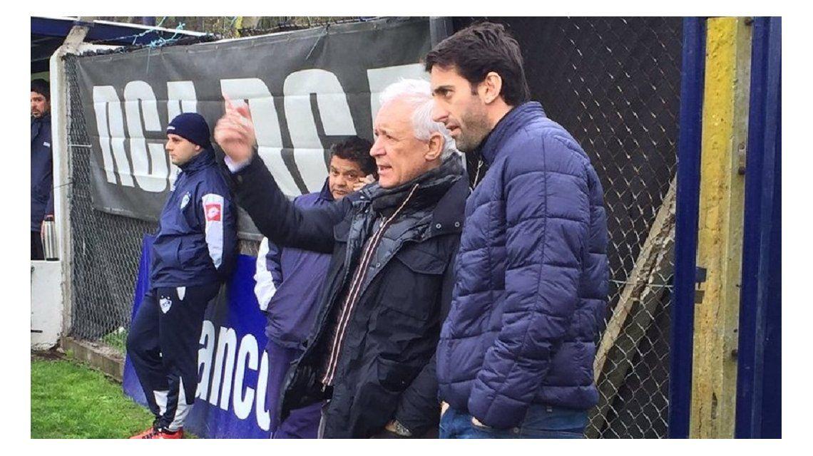 Víctor Blanco y Diego Milito