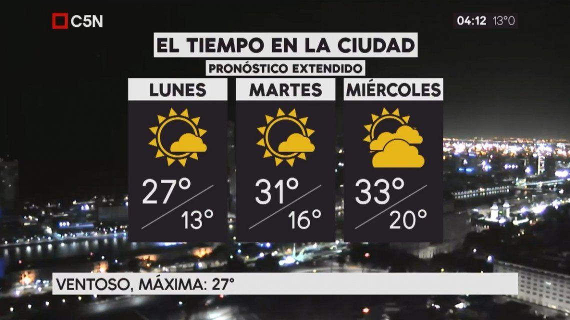 Pronóstico del tiempo extendido del lunes 11 de diciembre de 2017