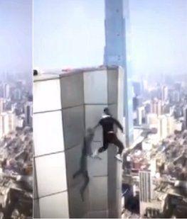 Filmó su propia muerte al caer desde un rascacielos